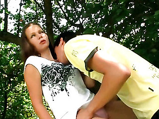 Great sex scene outdoor