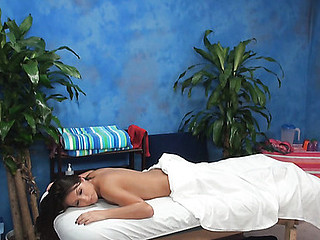 Charming gal with sexy body is getting unforgettable massage