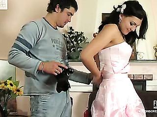 Laura&Adam sexy nylon clip scene
