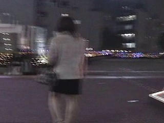 Candid episode of a cute Japanese babe caught going for a walk