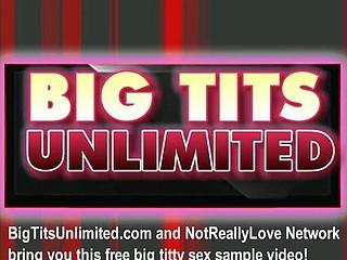 Big tit blonde masturbating