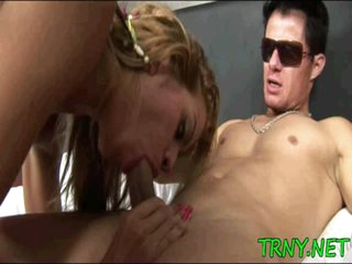 Mellow tranny acquires totally used