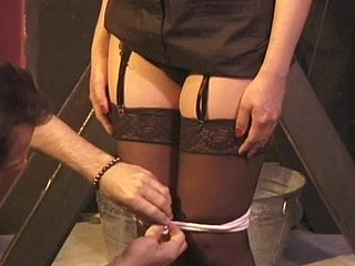 Infirm hotty gets abased
