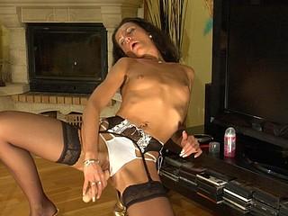 Regina playful nylons tease