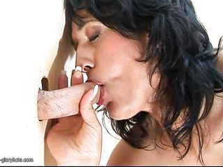 mature old women giving blind oral job