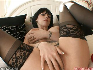 short hair brunette with huge tits sucking cock