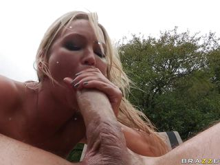 abbey brooks gets a huge dick in her dark hole