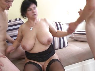 horny bbw takes two cocks