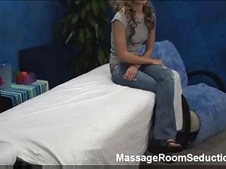 Sexy cutie in massage room