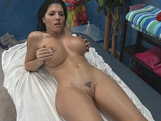 Rebecca receives drilled very hard after massage