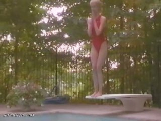 Laura Dern Bathing In a Sexy Swimsuit - 'Down Came A Blackbird' Scene