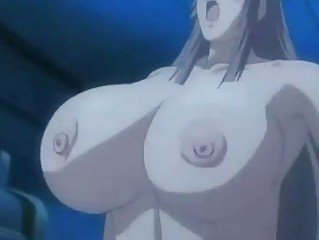 Anime breasty coed gets her soaked boobs licked by boy