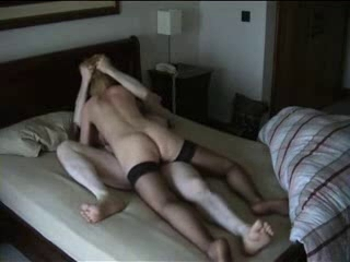 Cheating Golden-haired Wife Riding BF&,#039,s Dong on Hidden Livecam