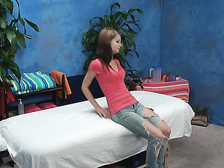 Beautiful gal is drilled well in doggy style after massage