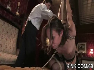 Hot pretty playgirl dominated, bound and fucked