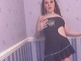 Gal in short dress dances