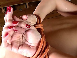 Sweet brunette PAige Turnah gets all tied up and brutaly screwed in her tight holes