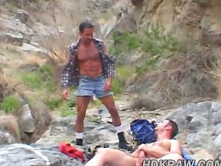 Matt and Eric Bareback Fuck in Cum Canyon
