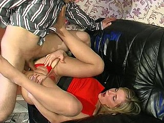 Benett&Monty kinky nylon footsex
