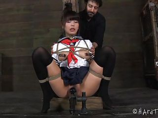 oriental schoolgirl punished and mouth fucked