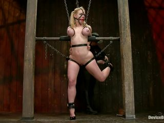 hot blond darling in chains
