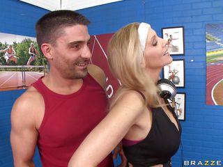 julia ann gets her hot boobs oiled