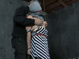 Taming a lusty gagged chick