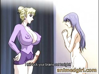 Busty anime shemale fucks the shit out of her hot friend