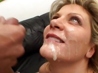 Ginger Lynn receives her face saturated with hot cum