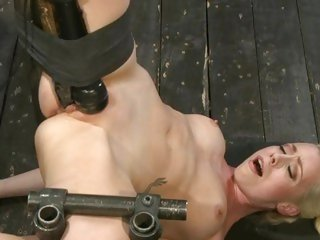 Lorelei Lee gets a massive sextoy rammed in her moist slot
