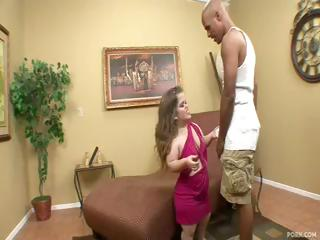 Midget Mini Mya gets a big dark cock