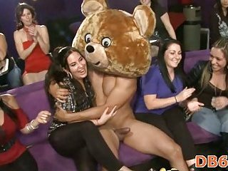 Blowing stripper jock in a great fun