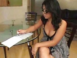 Chubby Latin chick is a hot teacher