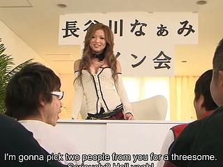 Japanese playgirl Naami Hasegawa group fucked