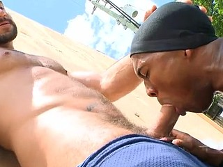 Homosexual porn where they have the dick engulfing and anal fucking