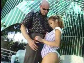 Small Girl is here to clean Rod s pool.Full movie.F70