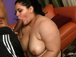 Chubby getting roped and fucked in hawt mouth