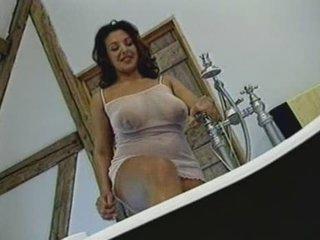 British Busty MILF gets fucked in the bathroom