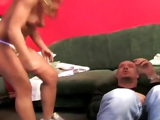 Two mistresses torturing an mature gay