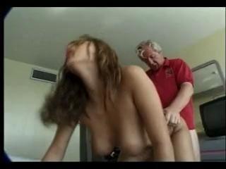 Old man bonks hot maid