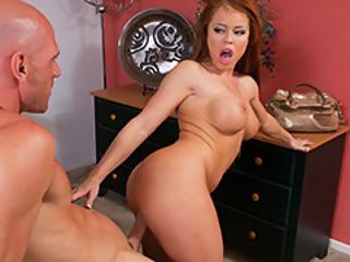 Housewife Nikki Delano Ride Johnny's Hard Rod
