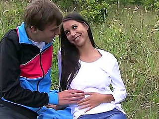 Long hared mulatto brunette Paula O is 19 year old in she enjoys fucking in the wild