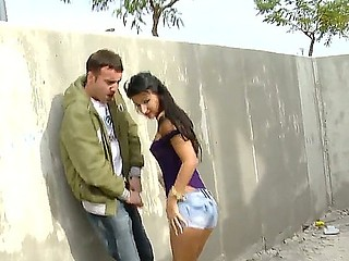 Amazing babe Susi Gala and her eager fucker are sure that public se is the best action