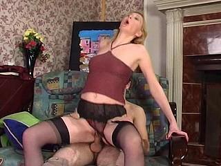 Olivia&Rudolf sexy nylon action