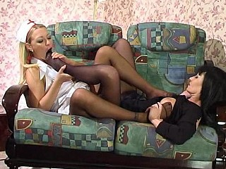 Ottilia&Rosaline great nylon feet movie scene