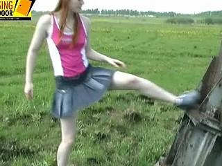 Wanda urinates on a meadow