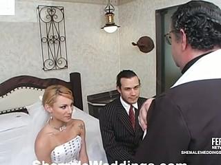 Milena horny lady-boy bride