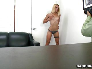 blonde slut spreads legs and fuck dildo