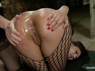 horny latin bitch receives ass drilled with a toy