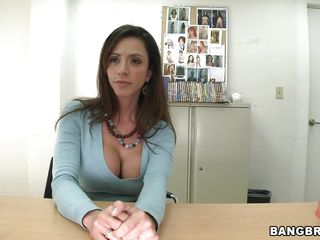 pretty innocent looking milf with big love melons acting slutty